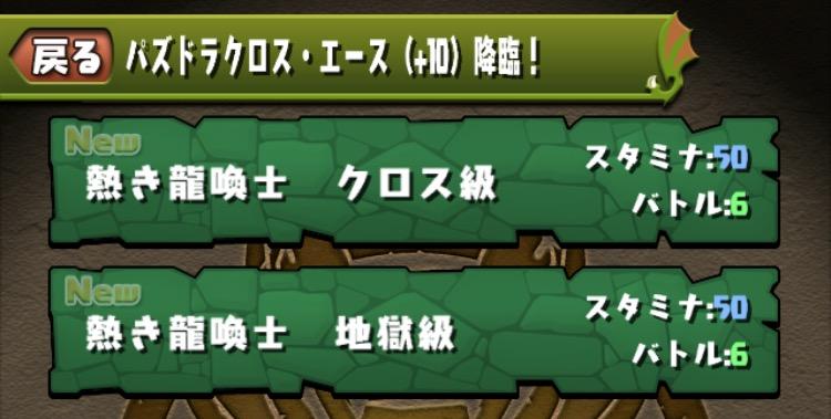 パズドラクロス・エース(+10)降臨!の内容01