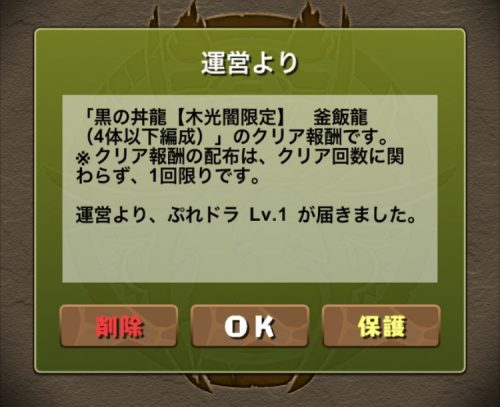 黒の丼龍【木光闇限定】攻略09