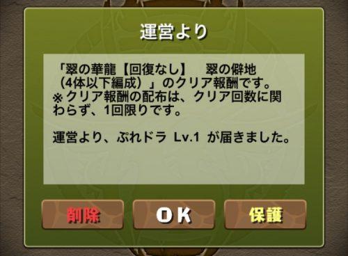 翠の華龍【回復なし】攻略09